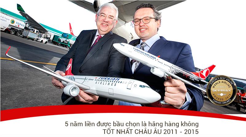 turkish khuyến mãi 7% khi mua vé máy bay đi Châu Âu